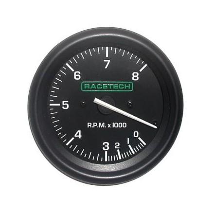 Racetech Tachometer 0-8000 RPM